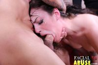 Facial Abuse Sweet Little Brunette